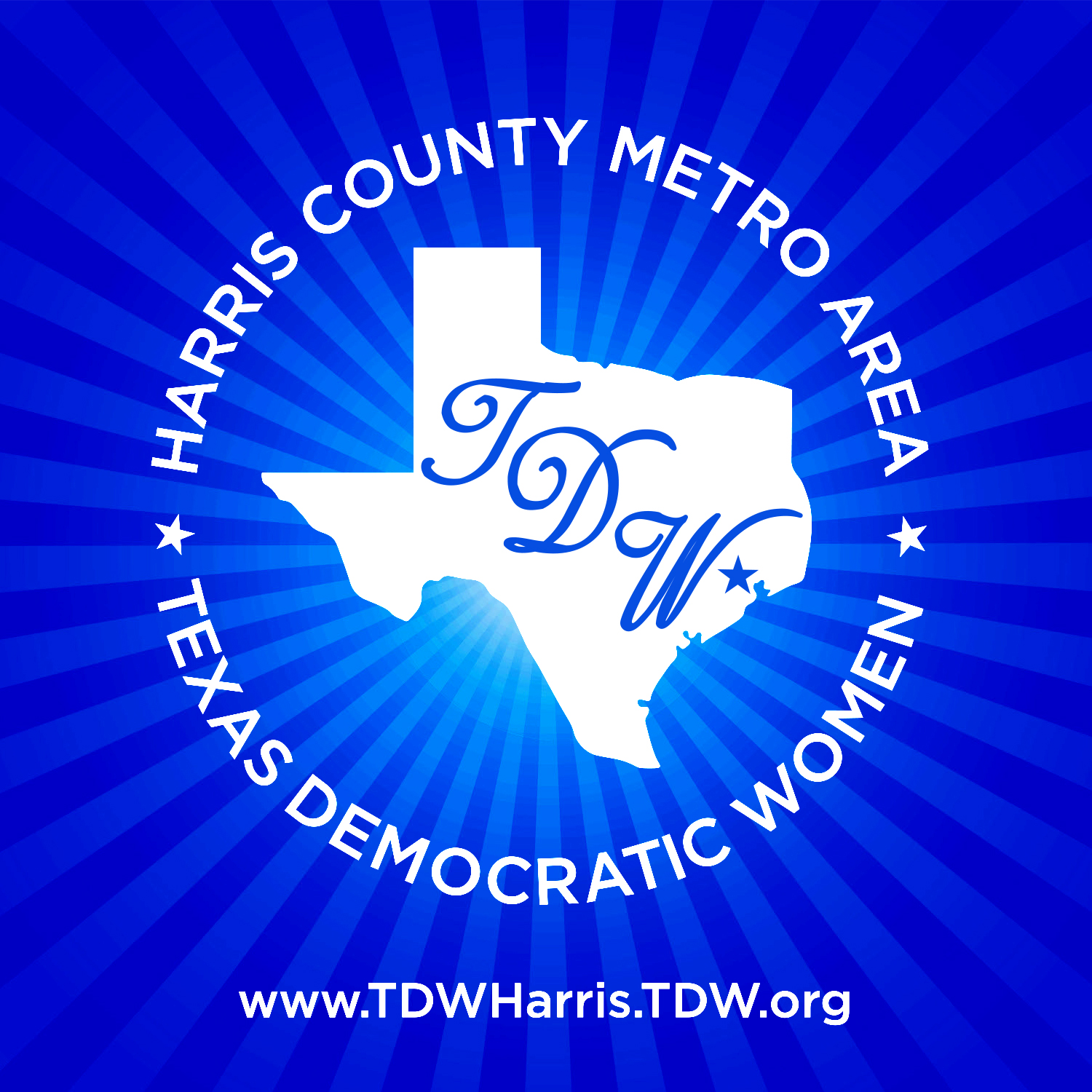 Texas Democratic Women of Harris County Metro logo